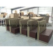 Fabrik anpassen 2 Sitzer Restaurant Sofa Booth (FOH-XM34-632)
