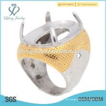 Neuester Indonesien-Batu-Ring aus Edelstahl-Mode-Ring für besten Preis