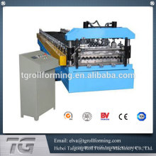 With hydraulic corrugated roofing sheet machine