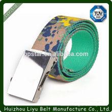 Chaussure en toile imprimée de l'Armée de la mode Mode Coton coloré en tricot Bracelet avec boucle métallique en fer Accessoires de la meilleure qualité