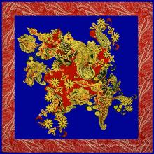 Top marque de style européen de vendeur a imité 100 * 100 écharpe en soie indienne