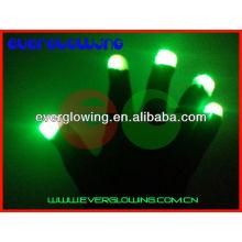 Светодиодные Светящиеся перчатки горячая распродажа 2016 для ночной вечеринки