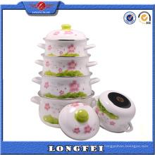 Yiwu vende al por mayor la calcomanía completa de la flor de la olla del arrabio del esmalte
