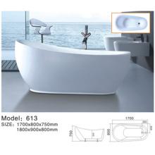 Moderna bañera independiente de acrílico
