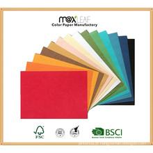 Placa de cor de tamanho A4 225GSM para fazer pacotes, materiais de embalagem
