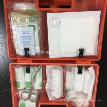 Kit de primeiros socorros com caixa plástica