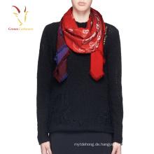 Benutzerdefinierte Schädel gedruckt Lady Wool Scarf Ombre Schal