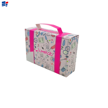 Exquisite cosmetic foldable paper packaging box