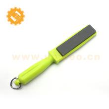 Fácil de pendurar 2 lados handheld sharpener faca de cozinha apontador de pedras