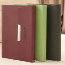 Портативный ноутбук с магнитным замком, ноутбук со сменными страницами, высококачественный бизнес-ноутбук