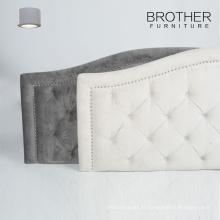 Nouvelle tête de lit en bois de lit d'hôtel de la Reine de conception avec le capitonnage