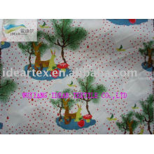 210T Polyester Pongee Printed Fabric with Peach Finished