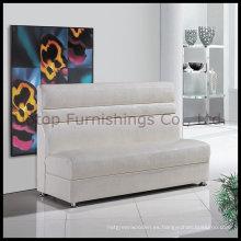 Moderno sofá de cuero blanco restaurante Sofa (SP-KS106)