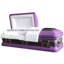 Lumière pourpre cercueil avec brosse Nature