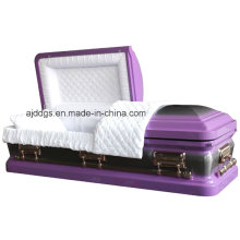 Light Purple Casket with Nature Brush