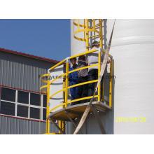 Réservoir en fibre de verre pour le traitement des eaux usées