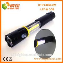 Fabrik Versorgung Super helle 4XAAA Batterie Typ 3 in 1 3W COB führte flexible Taschenlampe Licht