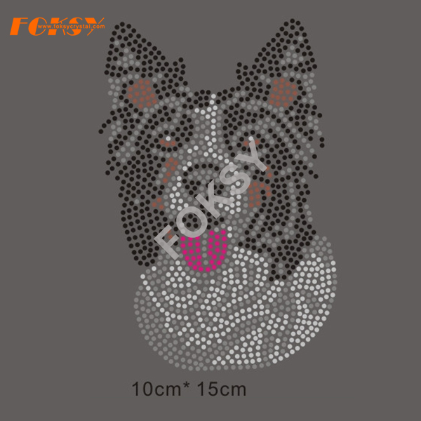 Iron On Dogs Rhinestone Transfers