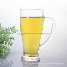 Logotipo do OEM que imprime a caneca de vidro da água bebendo, copo de cerveja do vidro