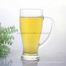 Печатание логоса OEM Питьевая стеклянная кружка воды, стеклянная чашка пива