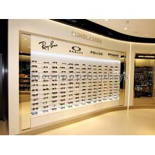 Free Design Acrylic Shelving Top Illuminating Eyeglass Retail Stand Wall Mounted Sunglass Display Rack