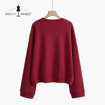 Round Neck Men's Knit Cotton Leisure Sweatshirt