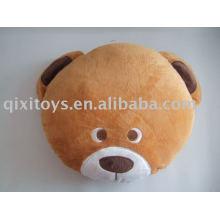 Almofada de urso de pelúcia e pelúcia, almofada de brinquedo do miúdo animal