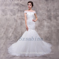 Wholesale 2017 alibaba mermaid sweetheart neck lace up with long train wedding dress