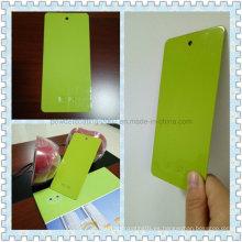 Pintura de polvo termoendurecible decorativo verde Apple de alto brillo