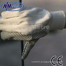 NMSAFETY Baumwolle gepunktete Handarbeit Gartenhandschuh mit Probe kostenlos