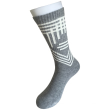 Half Cushion Cotton Fashion Logo Sport Grey Socks (JMCC07)
