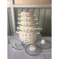 Reasonable price top quality factory pot enamelware 5pcs enamel high pot set