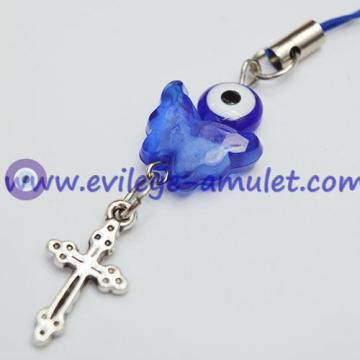 Evil Eye Butterfly Crucifix Phone Decoration Pendant
