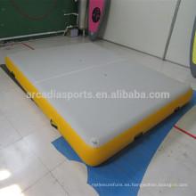 Estera flotante flotante inflable durable sólida del agua pontón