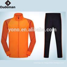 Vestido de manga larga de alta calidad con cremallera de hombre Track Top liso de chándal