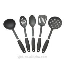 Ensemble d'outils de cuisine en nylon noir 6pcs