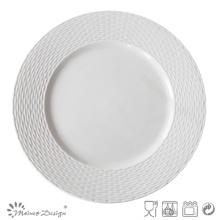 Plaque Royale en Porcelaine Céramique Embossée