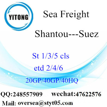 Shantou Port Sea Freight Shipping To Suez