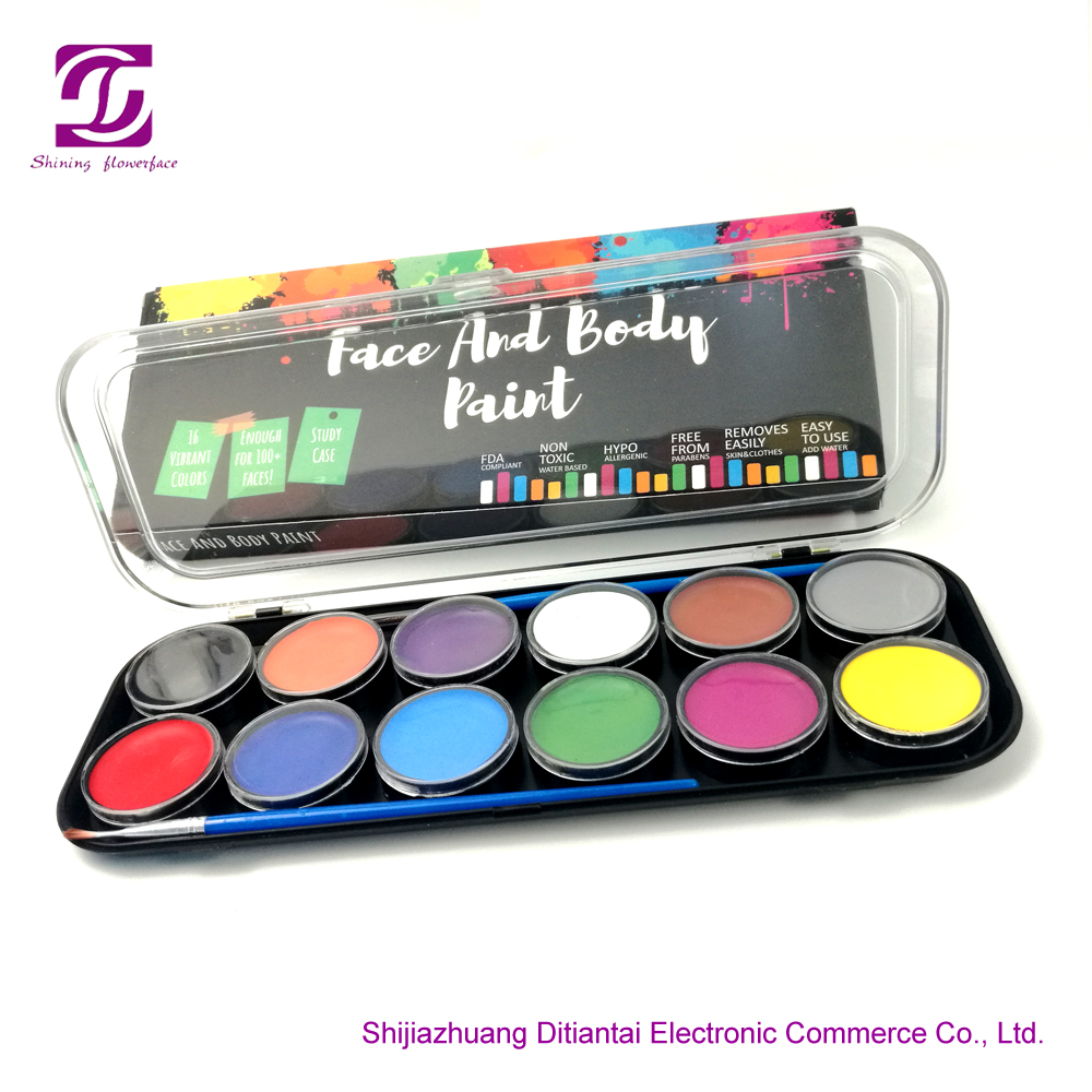 12 Colors Face Paint