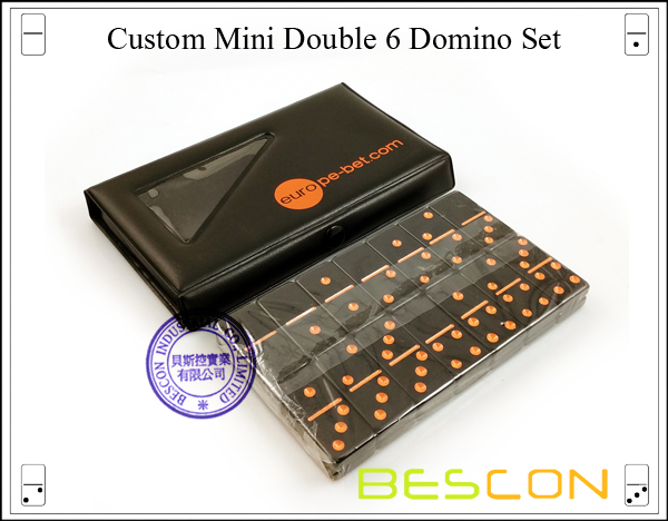 Custom Mini Double 6 Domino Set