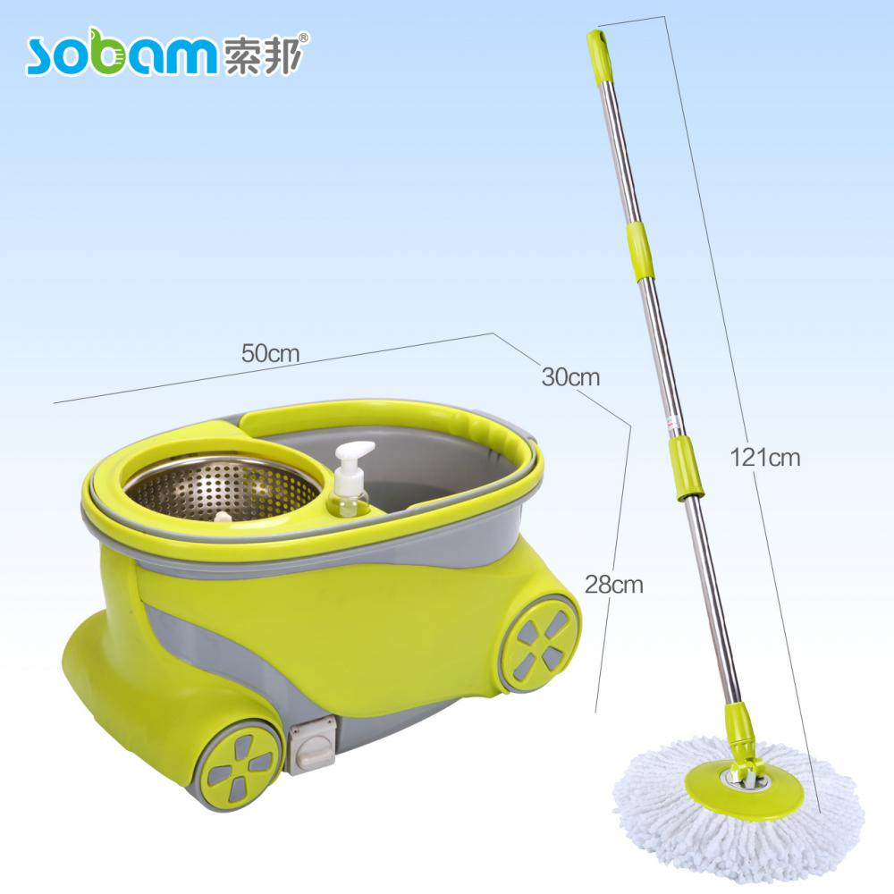 2017 Durable Walkable Spin Mop With Wheels
