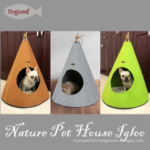 Foldable Nature Pet Igloo Felt Dog & Cat Cave House