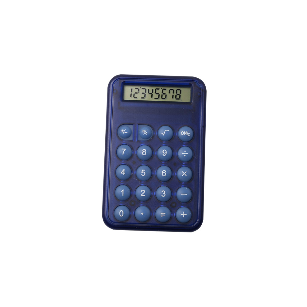 8 digits mini size calculator with button battery