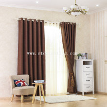 Factory made hot-sale for Plain Blackout 2017 Linen like blackout curtain supply to French Southern Territories Factory