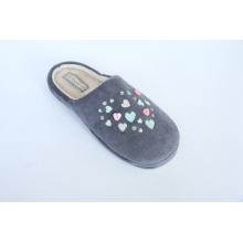 Damenschuhe / Warm Indoor Slipper mit Stickerei