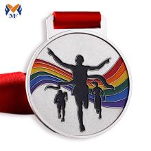 Medallas de metal de carrera a pie personalizadas personalizadas
