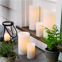 Customized ABS plastic outdoor LED candles set