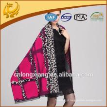 Estilo Longo Fashionable Thick Winter Woven Jacquard Mulher Viscose Wholesale Stole