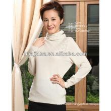 fashion design ladies' turtleneck cashmere sweater