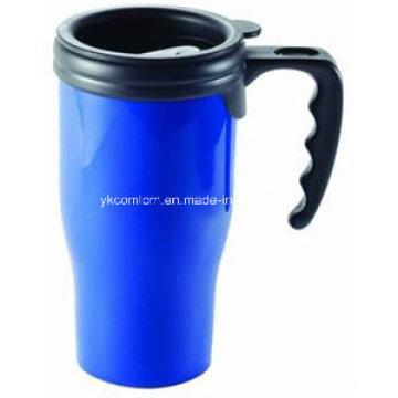 14oz Double Wall Plastic Mug with Color Shell